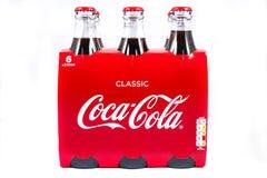 Bottiglie della coca-cola Fotografie Stock