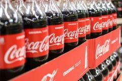 Bottiglie della coca-cola Immagini Stock