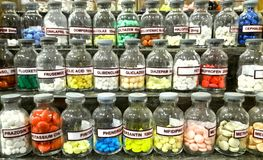 Bottiglie della droga Immagine Stock Libera da Diritti