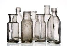 Bottiglie della medicina dell'annata Fotografie Stock