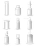 Bottiglie della medicina messe Fotografia Stock