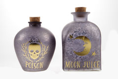 Bottiglie della pozione fotografia stock libera da diritti