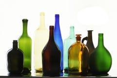 Bottiglie della raccolta Fotografie Stock