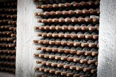 Bottiglie della raccolta del vino Fotografie Stock