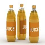 Bottiglie della spremuta illustrazione di stock