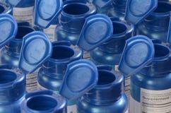Bottiglie della vitamina Fotografia Stock Libera da Diritti