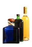 Bottiglie delle bevande alcoliche Fotografia Stock Libera da Diritti