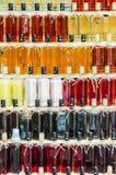 Bottiglie delle bevande alcoliche Immagine Stock Libera da Diritti