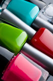 Bottiglie dello smalto di chiodo Fotografia Stock