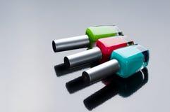 Bottiglie dello smalto di chiodo Fotografie Stock