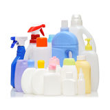 Bottiglie detergenti immagine stock
