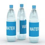 Bottiglie di acqua royalty illustrazione gratis