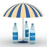 Bottiglie di acqua illustrazione di stock
