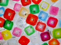 Bottiglie di acqua colorate Fotografia Stock