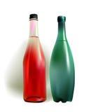 Bottiglie di acqua della frutta e del minerale Immagine Stock Libera da Diritti