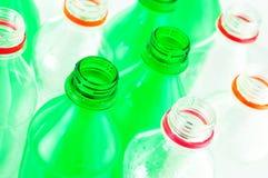 Bottiglie di acqua isolate Fotografie Stock