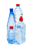 Bottiglie di acqua isolate Fotografia Stock
