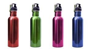 Bottiglie di acqua riutilizzabili dell'acciaio inossidabile Immagine Stock