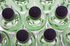 Bottiglie di acqua verdi Fotografie Stock Libere da Diritti