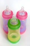 Bottiglie di bambino Fotografie Stock