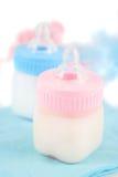 Bottiglie di bambino Fotografia Stock