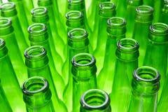 Bottiglie di birra vuote Immagini Stock