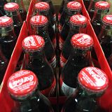 Bottiglie di Coca-Cola Fotografie Stock Libere da Diritti