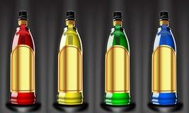 Bottiglie di colore Fotografie Stock Libere da Diritti