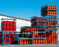 Bottiglie di gas fotografia stock