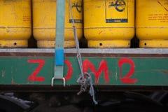 Bottiglie di gas Immagini Stock Libere da Diritti