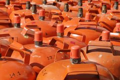 Bottiglie di gas Immagini Stock