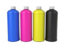 Bottiglie di inchiostro Immagini Stock