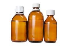 Bottiglie di medicina Fotografia Stock