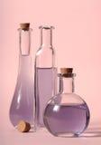 Bottiglie di olio Immagine Stock