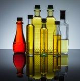 Bottiglie di olio Fotografia Stock Libera da Diritti