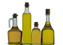 Bottiglie di olio d'oliva immagini stock