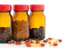 Bottiglie di pillola Fotografia Stock