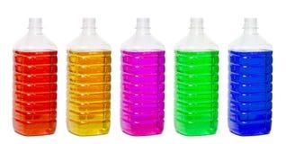 Bottiglie di plastica Fotografia Stock