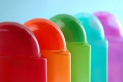 Bottiglie di plastica di sciampo 02 Fotografia Stock