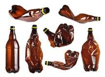 Bottiglie di plastica messe Immagini Stock