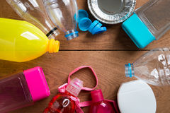 Bottiglie di plastica per il riciclaggio Fotografia Stock