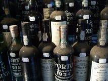 Bottiglie di porto Immagine Stock Libera da Diritti