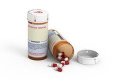 Bottiglie di prescrizione Fotografie Stock