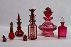 Bottiglie di profumo antica 1800 - 1890 Fotografie Stock