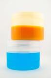 Bottiglie di salute e di bellezza Immagini Stock Libere da Diritti