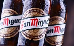 Bottiglie di San Miguel Beer fotografia stock libera da diritti