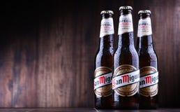 Bottiglie di San Miguel Beer immagini stock libere da diritti