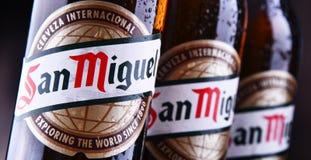 Bottiglie di San Miguel Beer fotografie stock libere da diritti