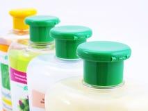 Bottiglie di sciampo Fotografia Stock