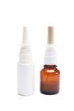 Bottiglie di spruzzo nasale Fotografie Stock